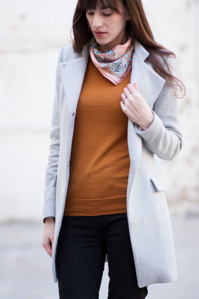 Jeans and a Teacup blogger wearing lightweight Zara Jacket and J.Crew neckerchief