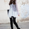 Los Angeles Style Blogger wearing Free People Tell Tale Lace Tunic