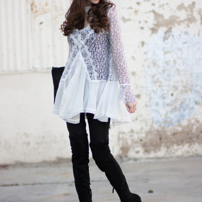 Lace Swing Tunic