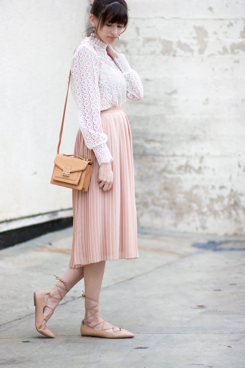 Jeans and a Teacup Style Blogger wearing a Valentine's Day inspired outfit