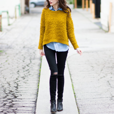 Furry Chartreuse Sweater