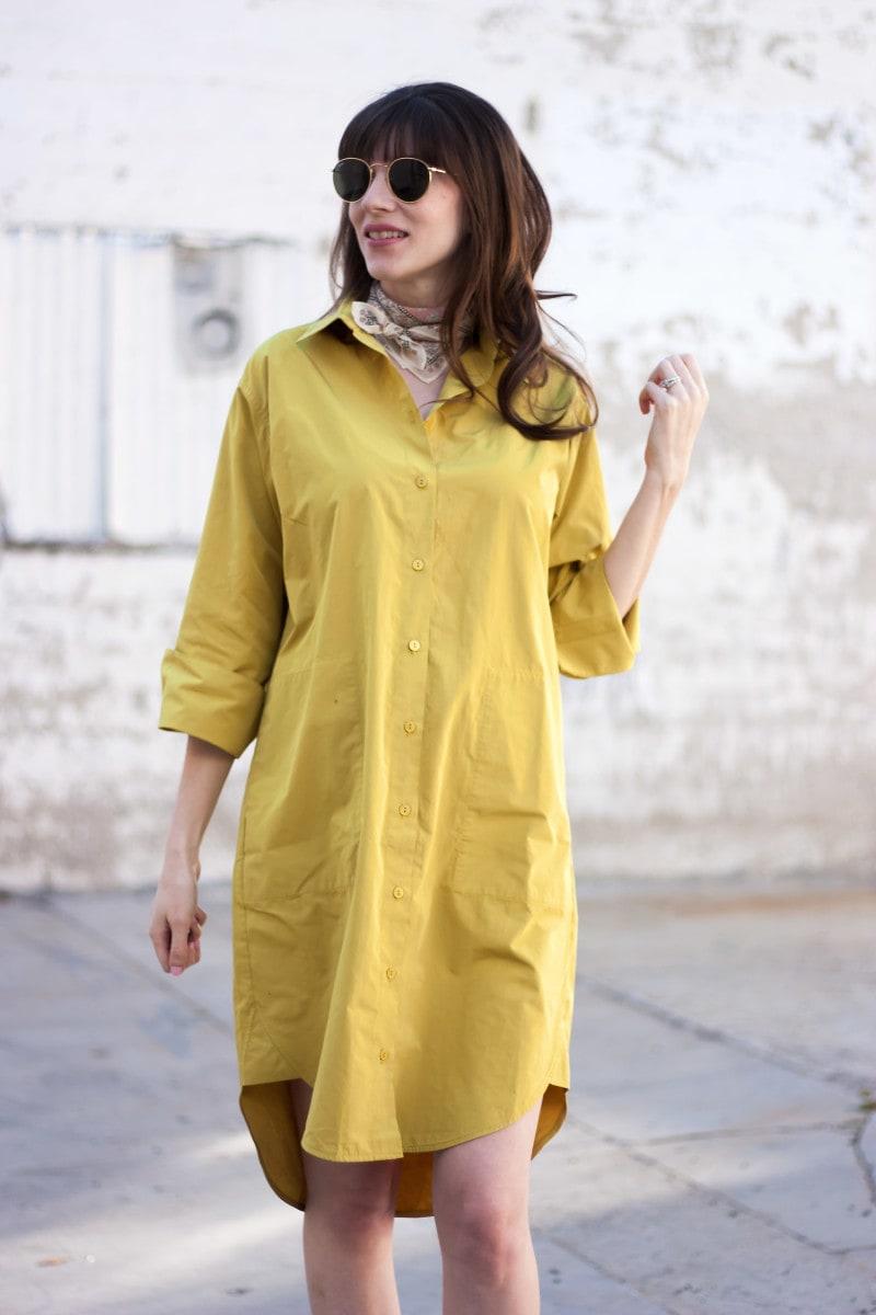 Minimalist Style Blogger wearing ACHRO dress