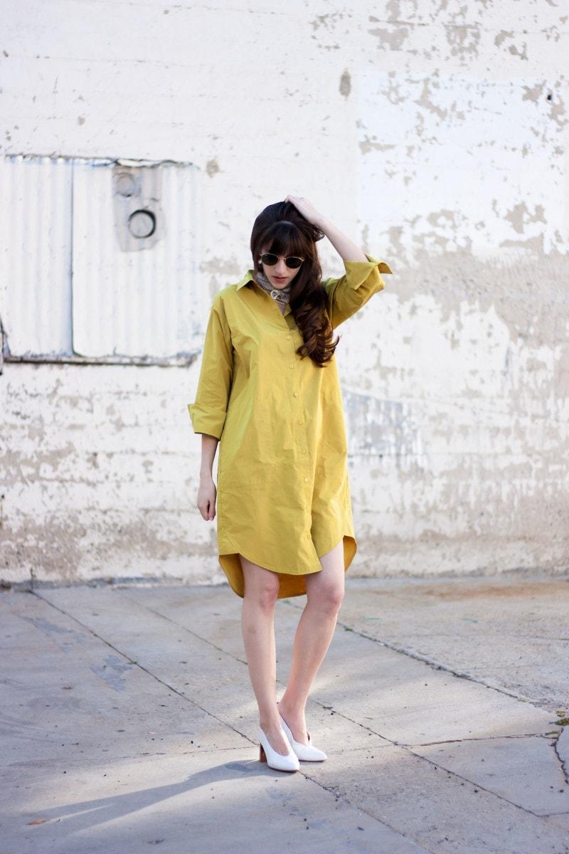 Los Angeles Fashion Blogger wearing and Achro Minimalist Shirt Dress
