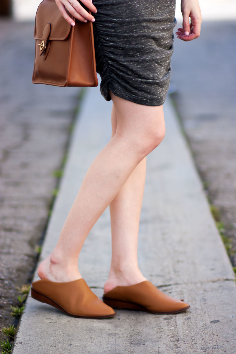 Minimalist fashion blogger wearing babo slides