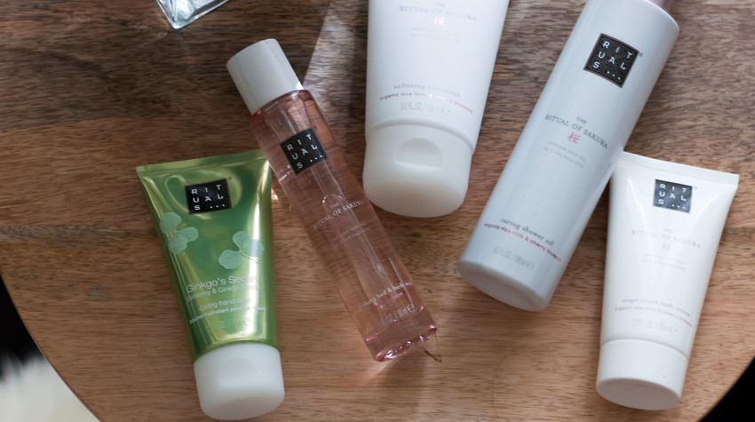 Ritual of Sakura bath and body products