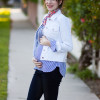 Pregnant Los Angeles Style Blogger wearing Old Navy