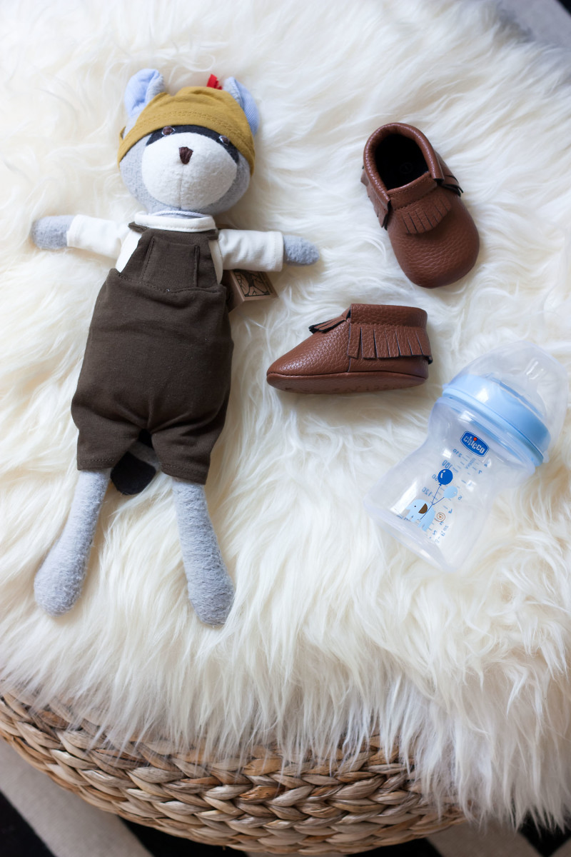 Chicco Baby Bottle with Hazel Village Doll and Sweet n Swag Moccasins