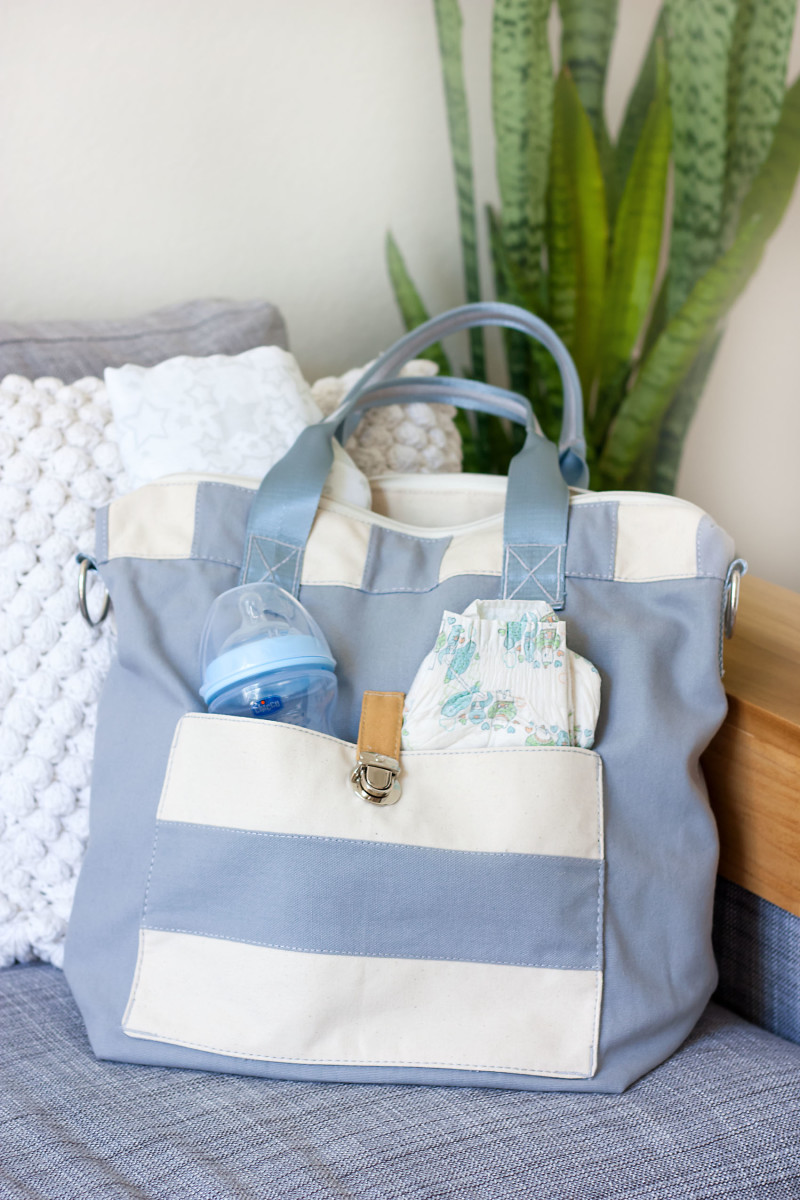 Gender Neutral Handmade Diaper bag from Hopbag on Etsy