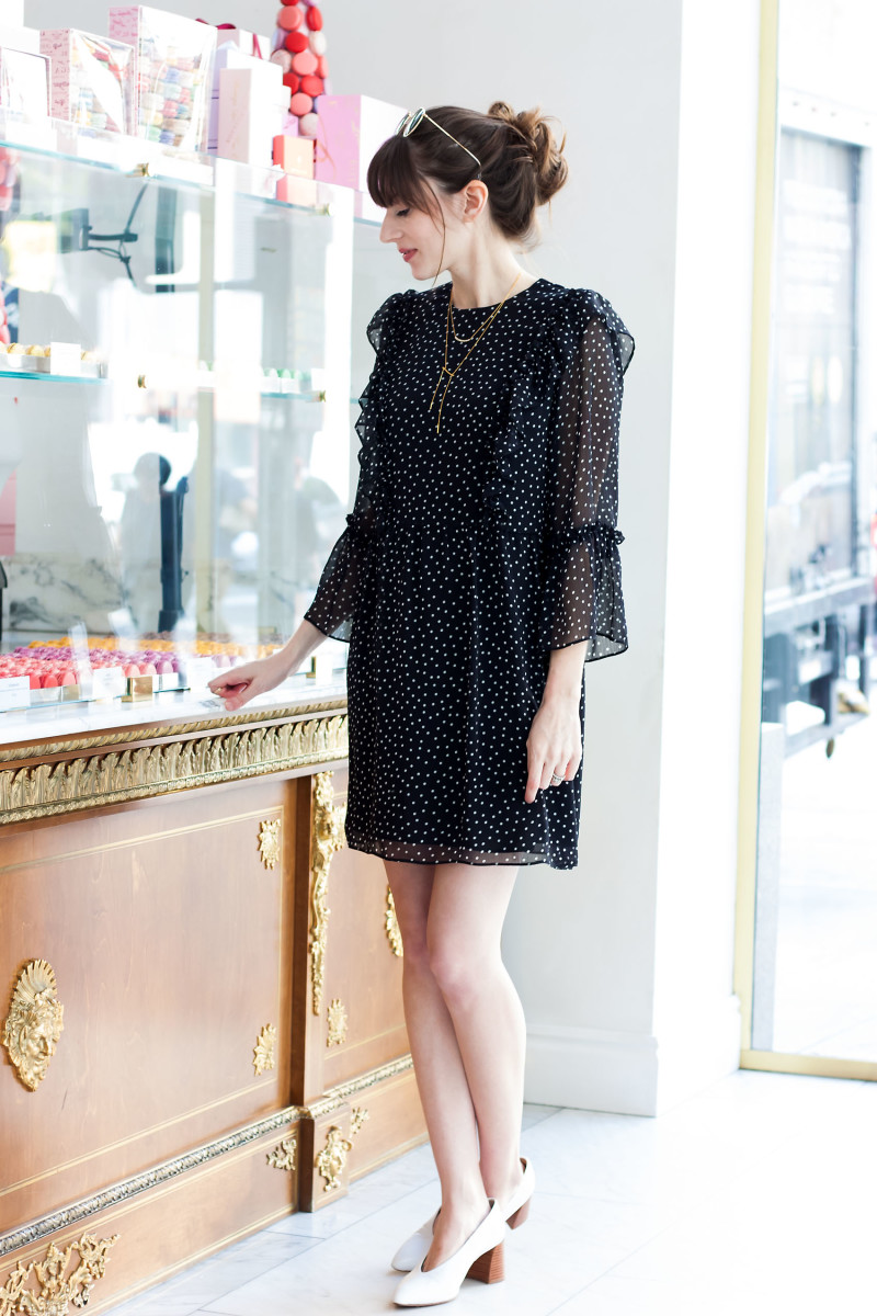 Los Angeles Fashion blogger at Bottega Louis restaurant in Downtown Los Angeles