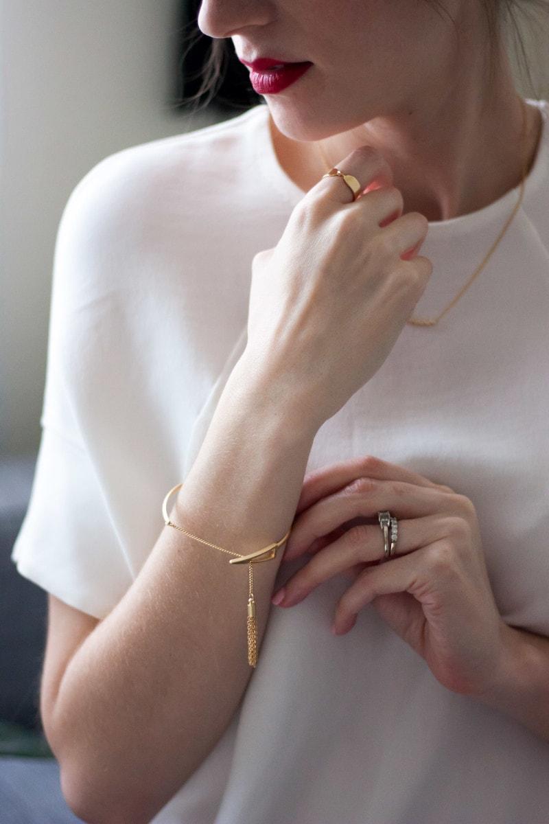 Minimalist tassel bracelet from Motif