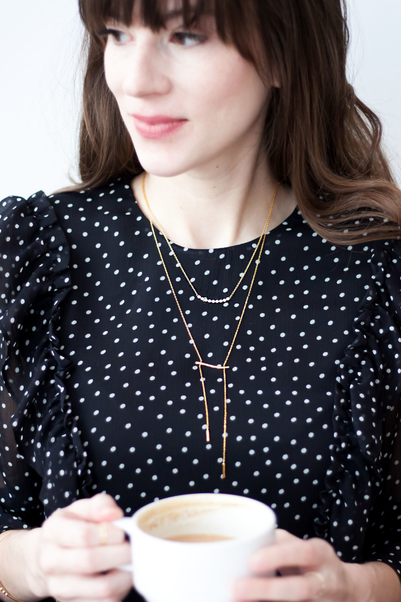 Layered minimalist necklaces from Motif