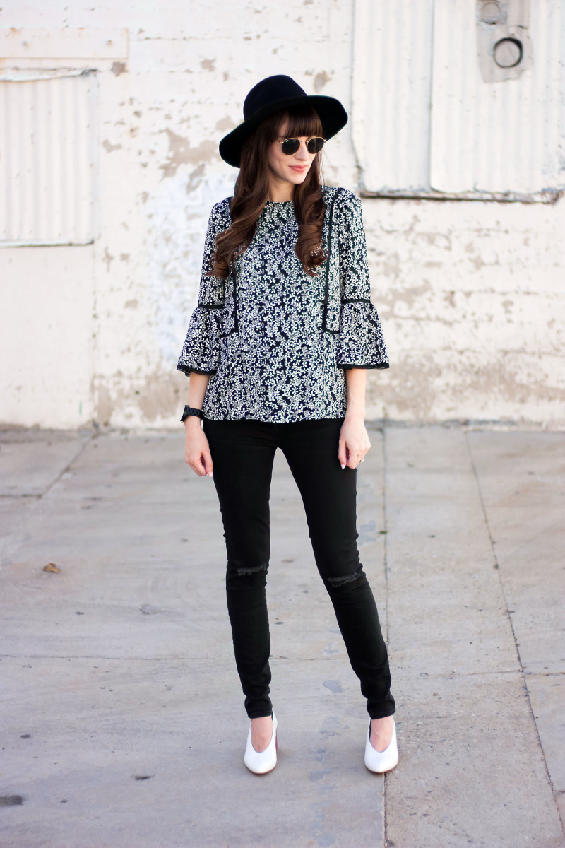 Los Angeles Fashion Blogger wearing Who What Wear Blouse from the Summer 2017 collection at Target
