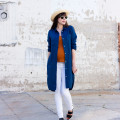 Minimalist Style Blogger wearing Everlane Linen Shirtdress