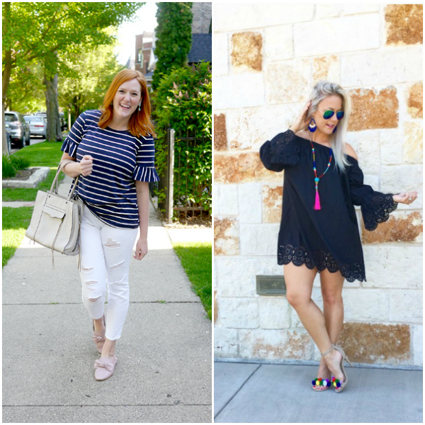 Bloggers linking up to the Flashback Fashion Friday Link up