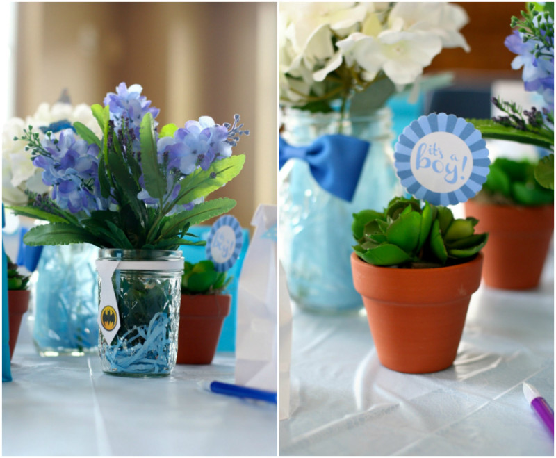 Baby Boy Shower Table Setting Decor
