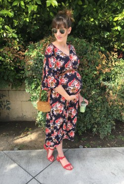 Style Blogger wearing Dwell and Slumber Caftan