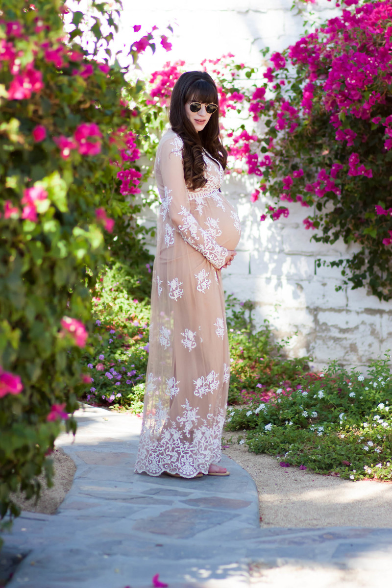 Jeans and a Teacup wearing Forever 21 Embroidered Maxi Dress at the Korakia Pensione
