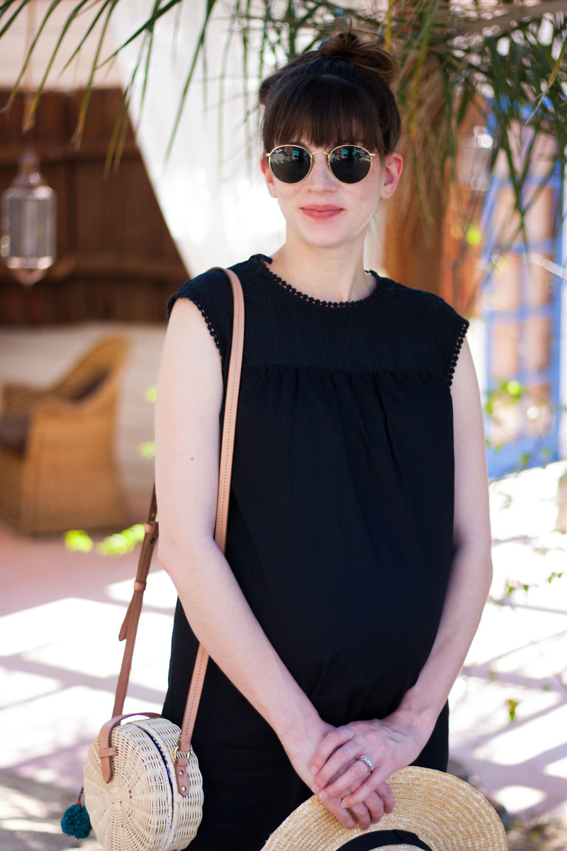 Los Angeles Fashion Blogger wearing WWW Collection Target dress and J.Crew Circle Bag