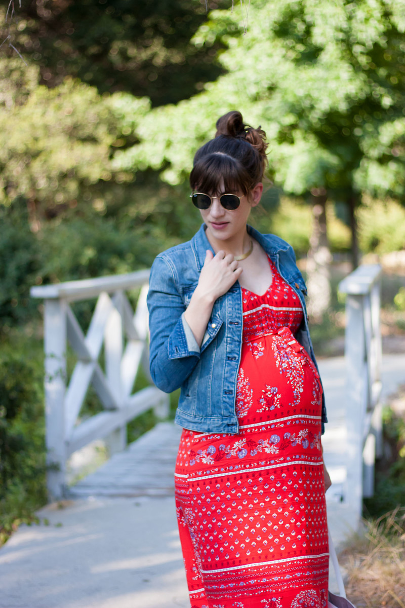 Los Angeles Fashion Blogger pregnancy style in Old Navy