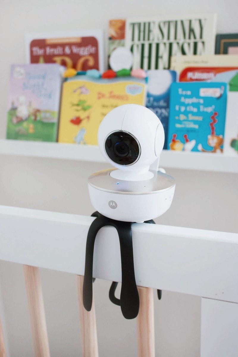 Motorola Baby Monitor on Crib