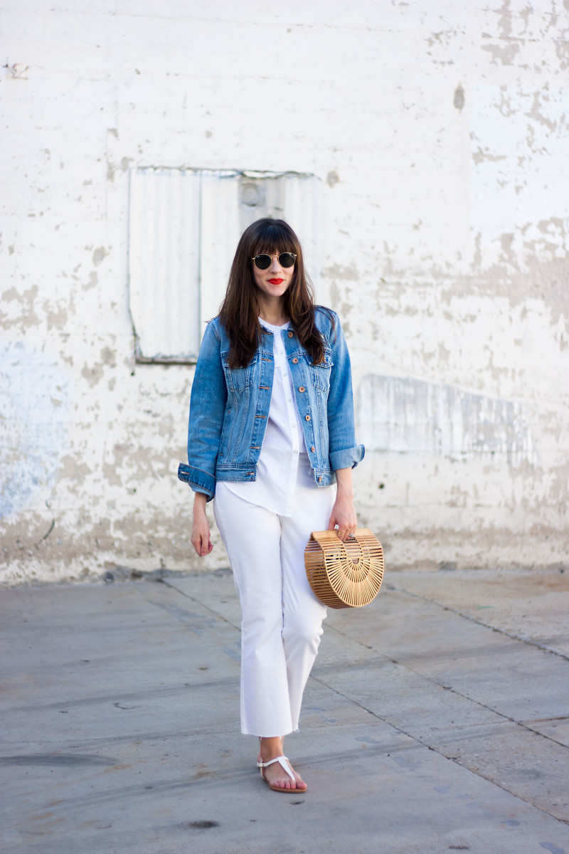 Los Angeles blogger wearing Old Navy outfit