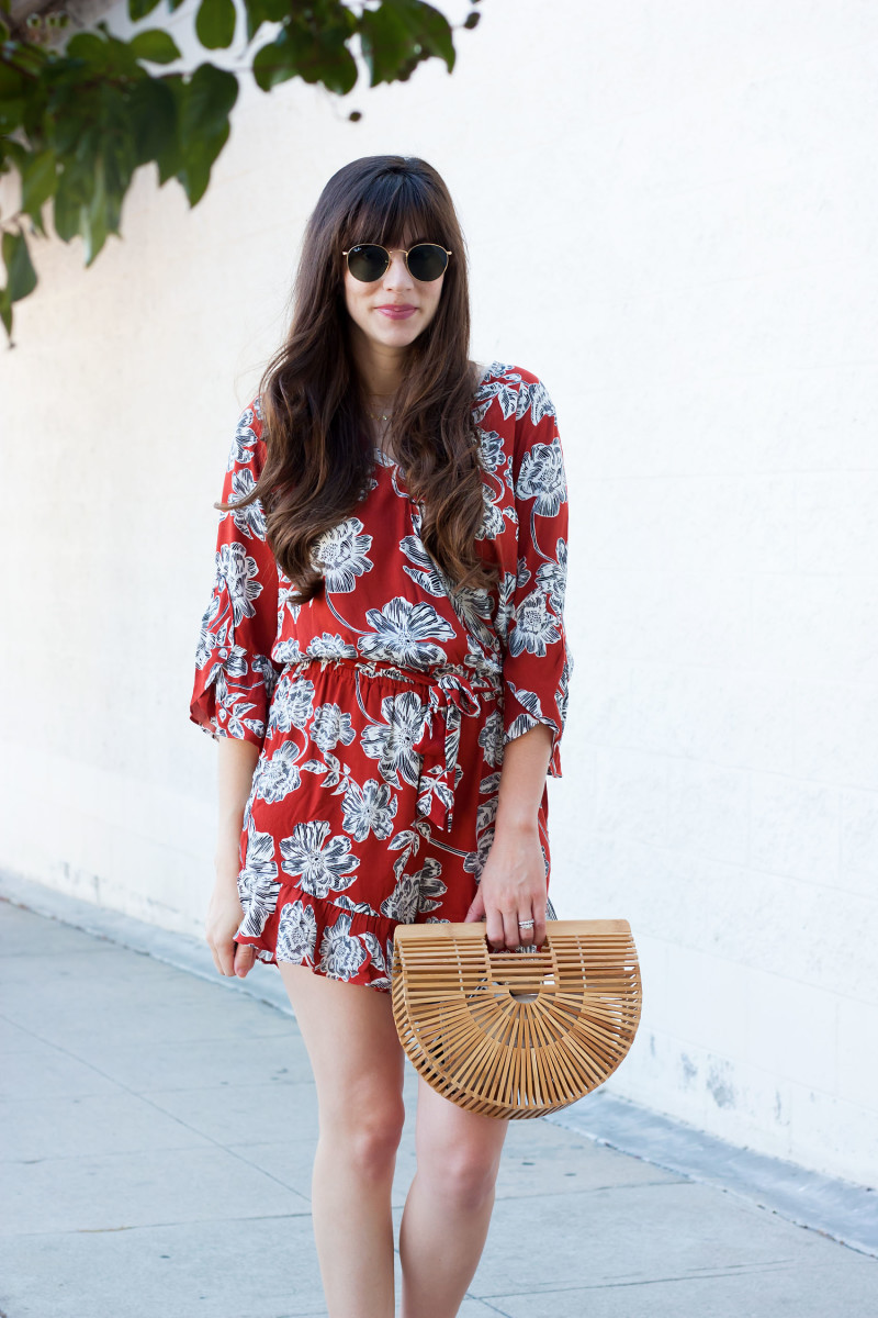 Los Angeles Mommy Blogger wearing Who What Wear for Target Romper