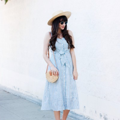 Los Angeles Style Blogger wearing Who What Wear Collection Dress from Target