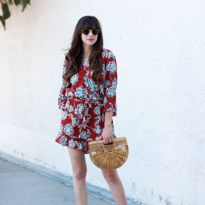 Los Angeles Blogger wearing Who What Wear Collection Romper