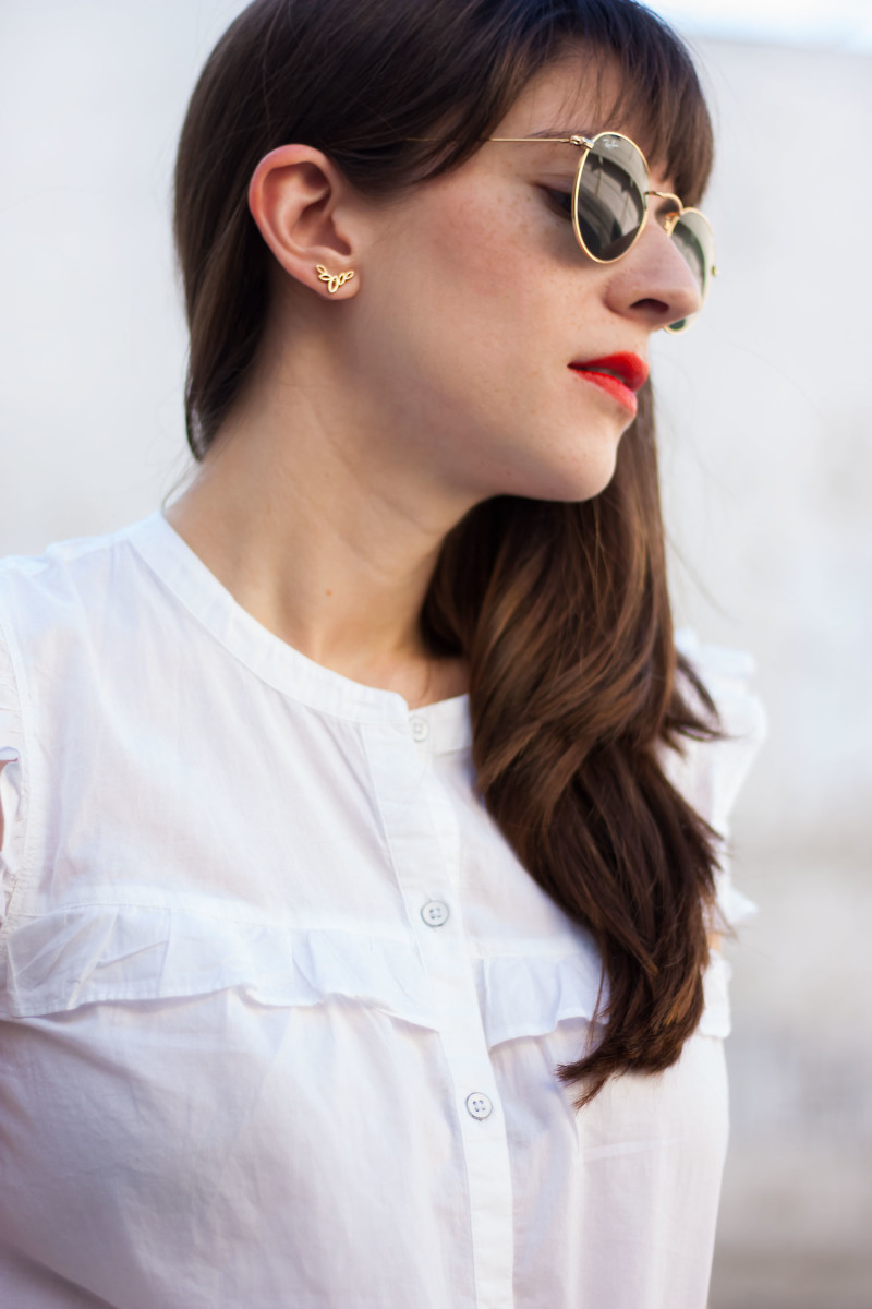 BaubleBar earrings on Style Blogger