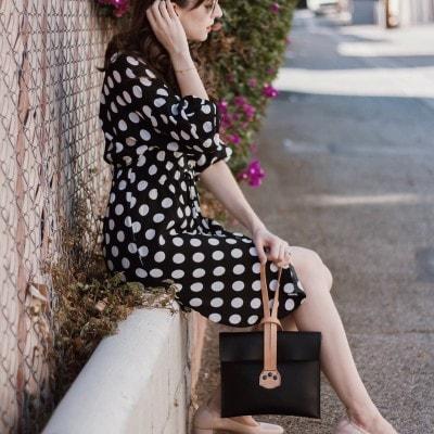 A Polka Dot Dress + Fun Accessories