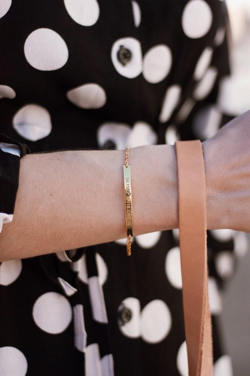 Style Blogger wearing Centime Coordinates Bracelet