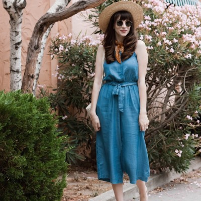 Jeans and a Teacup wearing Old Navy Chambray Jumpsuit