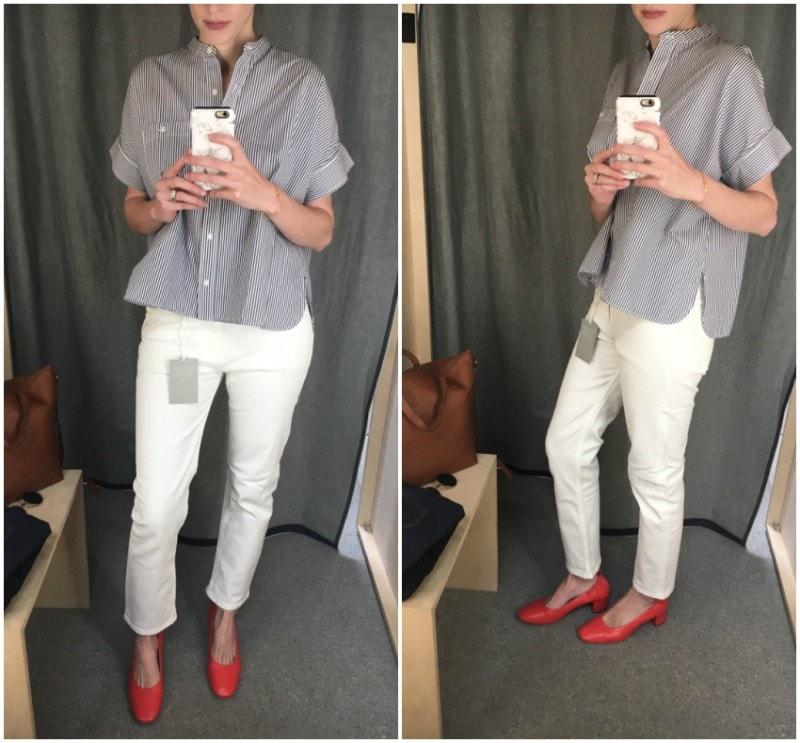 Everlane White Boyfriend Jeans