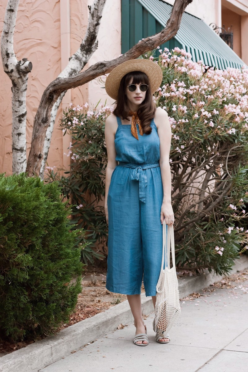 Los Angeles Blogger wearing Old Navy Jumpsuit