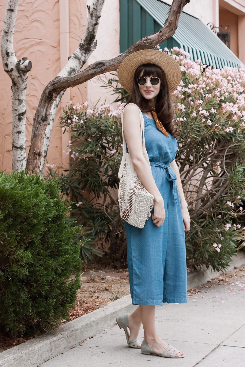Vintage Inspired Summer Outfit with Net Bag