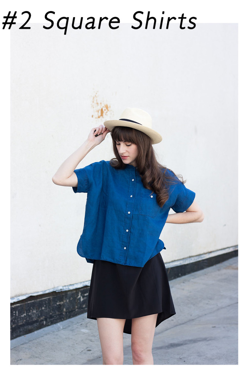 Los Angeles Style Blogger wearing Everlane Linen Square Shirt