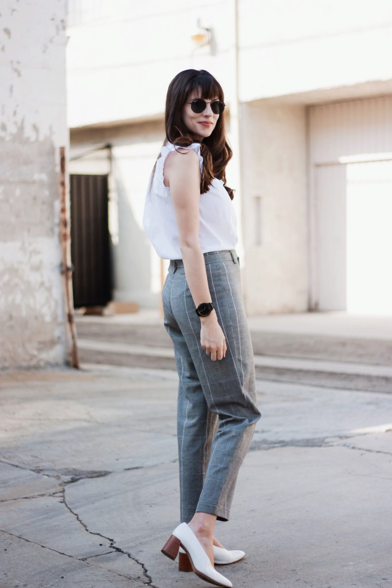 Los Angeles Blogger wearing a work inspired outfit