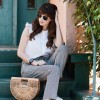 Los Angeles Style Blogger with Cult Gaia Bag