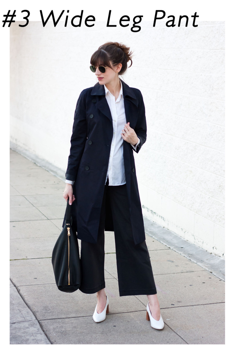 Jeans and a Teacup wearing Everlane Wide Leg Cropped Pants