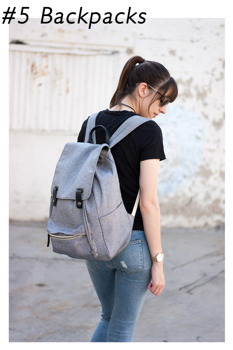 Minimalist Style Blogger with Everlane Backpack