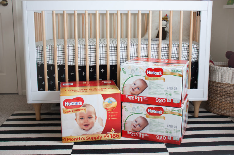 Huggies Diapers and Wipes in Baby Room