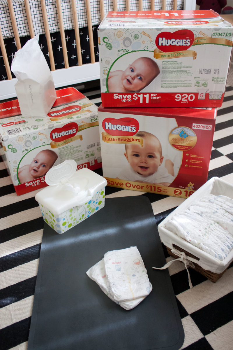 Diaper Changing Station Essentials With Huggies 174 Jeans