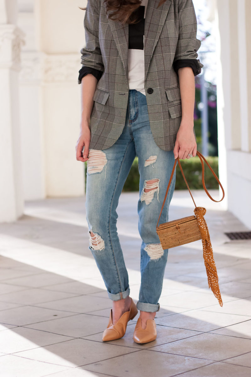 Jeans and a Teacup wearing Zara flats, 31 bits bag and boyfriend jeans