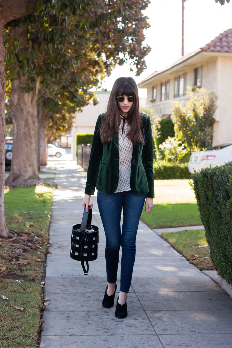 Los Angeles Style Blogger wearing Scallop Suede shoes from Aerosoles