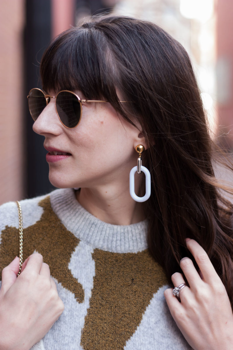 Los Angeles Style Blogger wearing History + Industry earrings