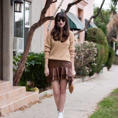 Fall Neutrals and White Booties + Linkup