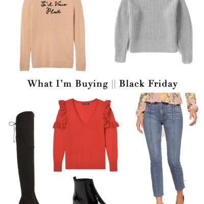What I'm Buying: Black Friday