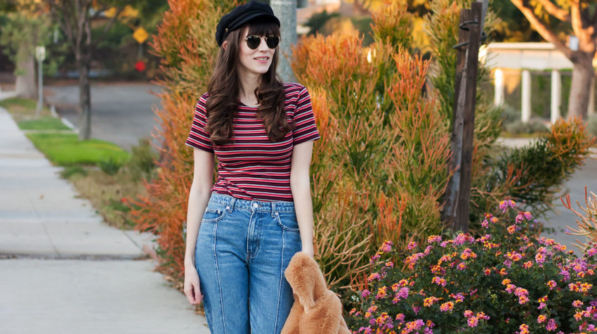 Los Angeles Style Blogger wearing Reformation top and jeans