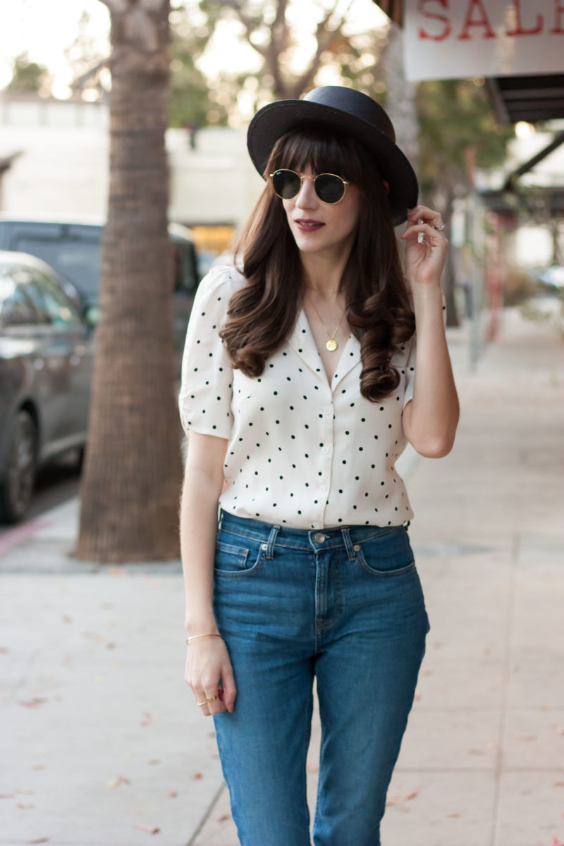 Los Angeles Fashion Blogger wearing sustainable fashion brands, Everlane and Reformation