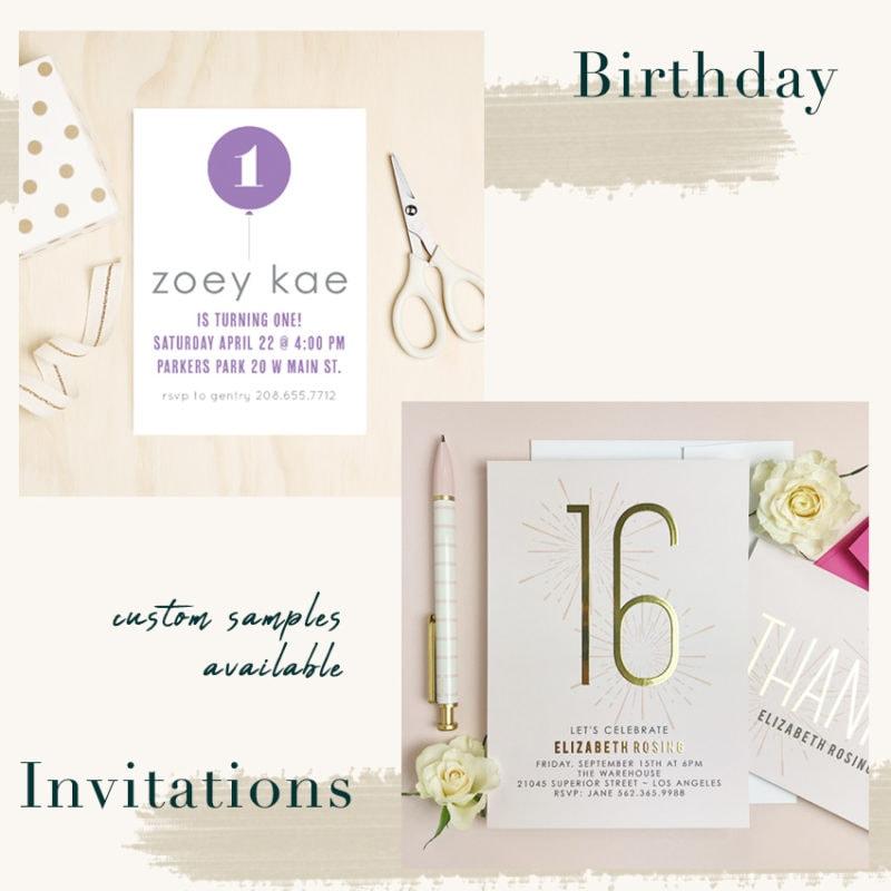 Basic Invite Unique Birthday Invitations